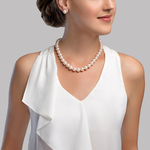10-11mm White Freshwater Pearl Necklace- AAAA Quality - Secondary Image