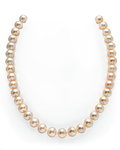 9.5-10.5mm Peach Freshwater Pearl Necklace - AAAA Quality