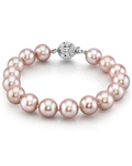 10-11mm Pink Freshwater Pearl Bracelet - AAAA Quality