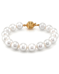 10-11mm White Freshwater Pearl Bracelet - AAAA Quality - Secondary Image