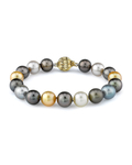 10-11mm Tahitian & Golden South Sea Pearl Bracelet - Model Image