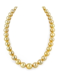 10-12mm Golden South Sea Pearl Necklace - AAA Quality