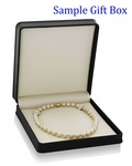 10-12mm Golden South Sea Pearl Necklace - AAA Quality - Third Image