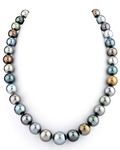 10-12mm Tahitian South Sea Pearl Multicolor Necklace - AAAA Quality