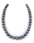 10-11mm Eggplant Tahitian South Sea Pearl Necklace - AAAA Quality