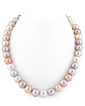 10.5-11.5mm Freshwater Multicolor Pearl Necklace - AAAA Quality