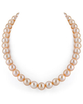 10.5-11.5mm Peach Freshwater Pearl Necklace - AAA Quality