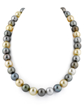 11-12mm South Sea Multicolor Pearl Necklace - AAAA Quality