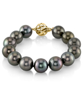 11-12mm Tahitian South Sea Pearl Bracelet - AAAA Quality - Model Image