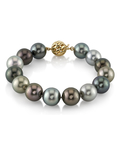 11-12mm Tahitian South Sea Multicolor Pearl Bracelet- AAAA Quality - Model Image