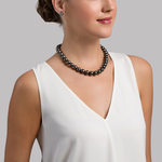 11-13mm Tahitian South Sea Pearl Necklace - AAA Quality - Model Image