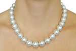11-14mm White South Sea Pearl Necklace - AAA Quality - Model Image