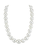 12-15mm White South Sea Baroque Pearl Necklace.