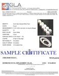 12-15mm White South Sea Pearl Necklace - VENUS CERTIFIED AAAA Quality - Secondary Image