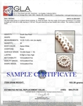 13-14mm White South Sea Pearl Necklace - AAAA Quality - Model Image