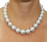 15-17mm White South Sea Pearl Necklace- AAAA Quality VENUS CERTIFIED - Model Image