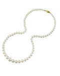 4.0-8.0mm White Freshwater Pearl Necklace  - Model Image