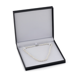 7-8mm White Freshwater Choker Length Pearl Necklace - AAAA Quality - Third Image