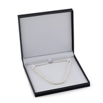 Triple Strand White Freshwater Pearl Necklace - Third Image