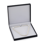 8-9mm White Freshwater Choker Length Pearl Necklace - Third Image