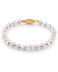 6.0-6.5mm Akoya White Pearl Bracelet- Choose Your Quality - Secondary Image