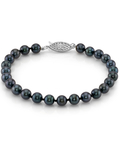 5.5-6.0mm Akoya Black Pearl Bracelet- Choose Your Quality