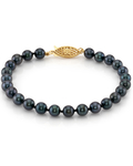 5.5-6.0mm Akoya Black Pearl Bracelet- Choose Your Quality - Secondary Image