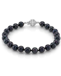 6.5-7.0mm Akoya Black Pearl Bracelet- Choose Your Quality