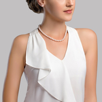 7.0-7.5mm Japanese Akoya White Pearl Necklace- AA+ Quality - Secondary Image