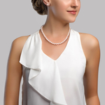 7-8mm White Freshwater Choker Length Pearl Necklace - Secondary Image
