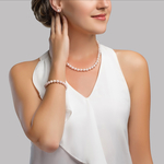 7-8mm Freshwater Pearl Necklace, Bracelet & Earrings - Secondary Image