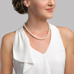 8-9mm White Freshwater Choker Length Pearl Necklace - Secondary Image
