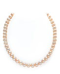 8-9mm Peach Freshwater Pearl Necklace - AAAA Quality