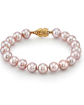 7-8mm Pink Freshwater Pearl Bracelet - AAAA Quality - Third Image