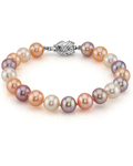 8-9mm Multicolor Freshwater Pearl Bracelet - AAA Quality