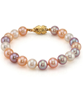 8-9mm Multicolor Freshwater Pearl Bracelet - AAA Quality - Third Image