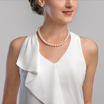9.0-9.5mm Japanese Akoya White Pearl Necklace- AAA Quality - Secondary Image