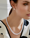 9-11mm White South Sea Pearl Necklace - Model Image