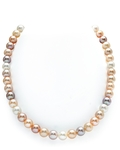 9-10mm Freshwater Multicolor Pearl Necklace  - AAA Quality