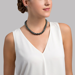 9-11mm Tahitian South Sea Pearl Necklace - AAAA Quality - Secondary Image