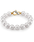 10-11mm White South Sea Pearl Bracelet - Model Image