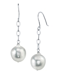 South Sea Baroque Pearl Dangling Tincup Earrings