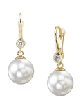South Sea Pearl & Diamond Michelle Earrings - Model Image