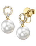 Akoya Pearl & Diamond Joyce Earrings - Secondary Image