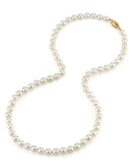 5.5-6.0mm Japanese Akoya White Pearl Necklace- AAA Quality - Secondary Image