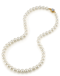 7.0-7.5mm Hanadama Akoya White Pearl Necklace - Secondary Image