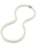 8.0-8.5mm Japanese Akoya White Pearl Necklace- AAA Quality