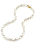 8.0-8.5mm Japanese Akoya White Pearl Necklace- AAA Quality - Third Image