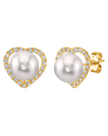 Akoya Pearl & Diamond Amour Earrings - Secondary Image