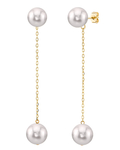Japanese Akoya Pearl Double earrings - Secondary Image